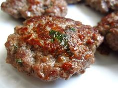 You may use beef or pork or a combination of both. You may use splenda instead of brown sugar or maple syrup. You will have to use a little more splenda.If you have fresh herbs the flavor is more intense.This is a make ahead recipe and freeze if desired. I used to make this with ground vension and ground pork. The kids loved it.