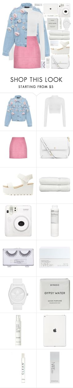 """be my valentine"" by charli-oakeby ❤ liked on Polyvore featuring Anouki, WearAll, Tory Burch, Linum Home Textiles, Fuji, Korres, Sonia Kashuk, NARS Cosmetics, adidas Originals and Byredo"