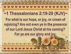 1 Thessalonians 2:19-20
