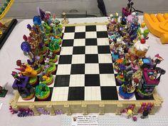 LEGO Friends vs. Elves Chess Set | Modular chess board split… | Flickr