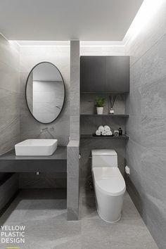 로프트(loft) 감성이 깃든 외국같은집 위치:서울 양천구 목동 주거형태: 주상복합 면적: 184m2 (57평형) 가... Bathroom Inspo, Apartment Interior, Powder Room, Toilet, Interior Design, Mirror, House, Home Decor, Little Cottages