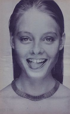 Jodie Foster photographed by Andy Warhol for Interview ( January 1977)