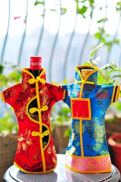 Chinese wine bottle covers.