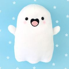 kawaii plush stuffed toys - cuddly and furry friends Spooky McCute kawaii ghost plush - KiraKiraDoodles