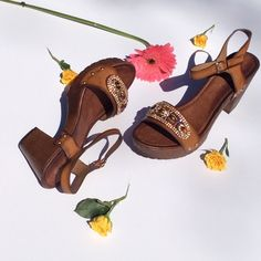 New Stunningly Beautiful Boho Sandals These beautiful sandals are available in size 7, through 11. Vegan leather with jewel designs on the top toe area these will set all jean wear off. Get your pair now before they sell out. Evolvingalways Shoes Sandals