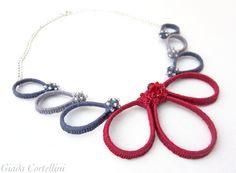 Crochet necklacecrochet flower necklacecotton от GiadaCortellini
