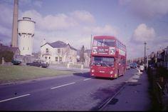 Muschamp Laundry near St Helier Estate in Carshalton Surrey England London Bus, Old London, West London, Sutton England, Surrey, Great Britain, Buses, Old Photos, Nostalgia