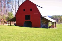 Old red face barn