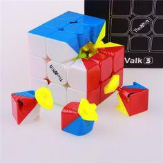 Qiyi valk3 giocattolo del cubo stickerless velocità cubo magico professionali giocattoli divertenti per i bambini