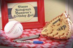 Cameron's Vintage Baseball 1st Birthday Party | CatchMyParty.com
