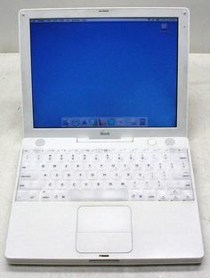"Apple iBook A1005 G3 800MHz Laptop 128MB/30GB/WiFi/CD-Rom/OSX/12.1"" display 718908426210 