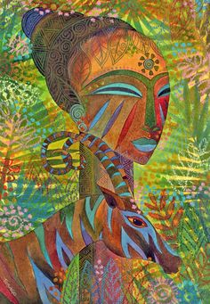 African Queens Painting by Jennifer Baird - African Queens Fine Art Prints and Posters for Sale Art And Illustration, Black Art, Art Amour, Afrique Art, Art Sculpture, Afro Art, African American Art, Art Design, Love Art