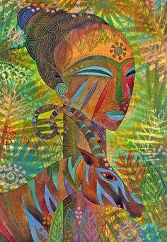African Queens Painting  - African Queens Fine Art Print