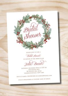 Christmas+Winter+Floral+Pine+Wreath+Bridal+by+PaperHeartCompany