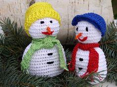 Dva sněhuláčci - NÁVODY NA HÁČKOVÁNÍ