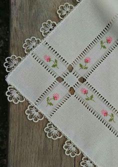 Cross Stitch and Hardanger Hardanger Embroidery, Hand Embroidery Stitches, Ribbon Embroidery, Cross Stitch Embroidery, Embroidery Designs, Cross Stitch Designs, Cross Stitch Patterns, Drawn Thread, Smocking