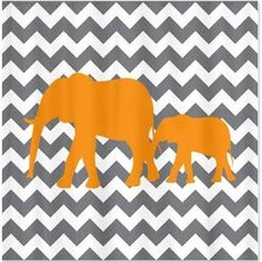 grey and orange shower curtains - Google Search