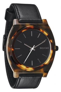 Time Teller Acetate Tortoise Leather