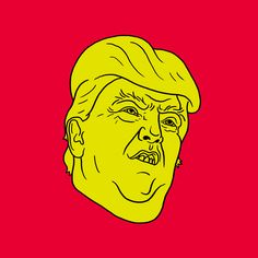 Trump : Schlong  Prints and more available through Society6. / Daily Drawing #2047.
