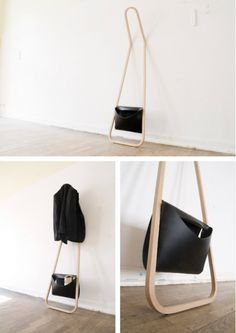 Nice and simple, this clothing rack Servus by Florian Saul (source: http://www.swiss-miss.com/2012/04/servus.html)