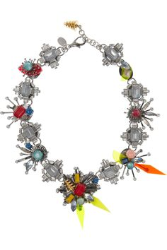 Erickson Beamon | Nexus Swarovski crystal necklace | NET-A-PORTER.COM