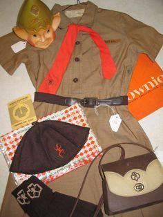 Brownie uniform...I remember the little beanie! My socks were different, brown knee socks with little orange tassels, but still, the memories!