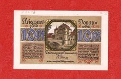 Germany Notgeld Donauworth 10 pfennig rare #6