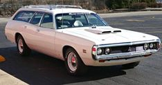 Factory 440 Wagon: 1971 Dodge Coronet Crestwood If you are looking for a holy grail of muscle wagons, look no further. This 1971 Dodge Coronet Crestwood is 1 of 4 wagons ever built. Packing a 440 cubic inch and a Pistol Grip… Vintage Cars, Antique Cars, Station Wagon Cars, Old American Cars, Dodge Muscle Cars, Old Wagons, Dodge Coronet, Automobile, Best Classic Cars