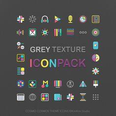 [kimkim] Grey Texture Icon pack SAMSUNG Galaxy Theme Store