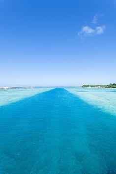 The river within the sea, Kume Island, Okinawa, Japan