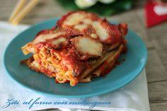 Ziti+al+forno+con+melanzane+ricetta+gustosa+-+I+Sapori+di+Ethra