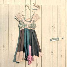 little funky Panel Day Dress by CreoleSha  upcycled by CreoleSha