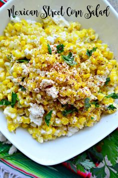 Mexican Street Corn Salad Embrace the produce of the season and use up leftover corn on the cob and make my version of Mexican Street Corn Salad for your next fiesta! Corn Salad Recipes, Corn Salads, Appetizer Recipes, Mexican Salad Recipes, Mexican Salads, Elote Corn Recipe, Recipes With Corn, Mexican Food Appetizers, Healthy Eating Recipes