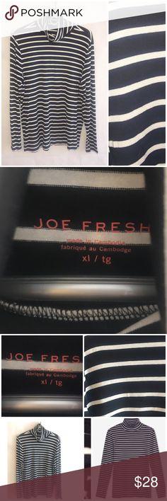 e14ce7845a3 JOE FRESH TURTLENECK Top XL Joe Fresh Black White Striped Turtleneck Size  XL Great condition Material