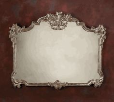 Chateau Sterling Ornate Mirror hand crafted in Italy.  finished in antique silver leaf. Design Nashville European Charm Collection