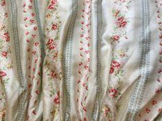 Vintage Ralph Lauren Highfields Sateen Large Floral Queen Bed Skirt New