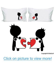 BoldLoft Complete My Heart Couple Pillowcases-Valentines Day Gifts for Him for Her,Valentines Day Gifts for Girlfriend Boyfriend,Cute Couple Gifts,Romantic Anniversary Gifts,Wedding Gifts for Couple