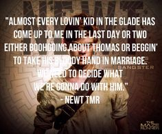 Yup he said that in Thomas's first gathering.. Love for every shukin' word that comes out from newts mouth