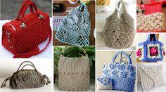 Selección de 10 fabulosos bolsos y bolsas en crochet