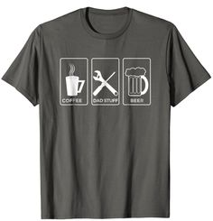 12.90$ COFFEE DAD STUFF BEER T-Shirt Cute Fathersday Gift #tshirt #shirt #tee #fathersday #fathersdaygiftidea #dadlove #amazon #amazonprime #gift #giftidea #lovedaddy #daddy Coffee Dad, Mothers Day T Shirts, I Love My Dad, Fathers, Daddy, Beer, Amazon, Gift, Mens Tops