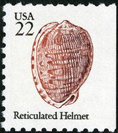 Stamp: Reticulated Helmet (United States of America) (1985 Regular Issue) Mi:US…
