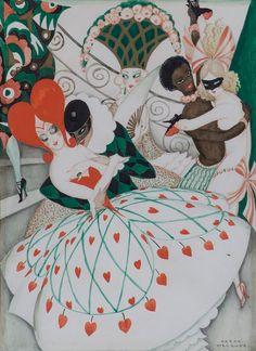 Gerda Wegener, Karnevallet, ca. 1925.