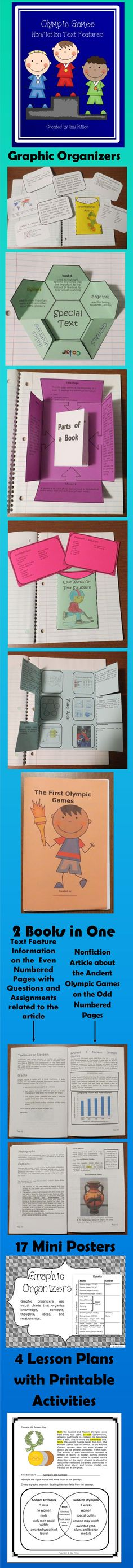 Olympic Games Nonfiction Text Features contains a variety of fun and engaging activities to aid in teaching text features. $