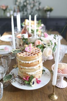 frosted waffle tower