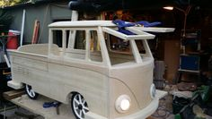 Pedal car M K 2 i'm building for my son. paulonia timber body. steel frame. 12v electric led lighting