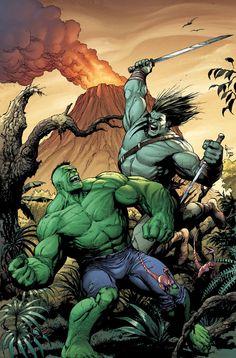 #Hulk #Fan #Art. (Hulk VS Skaar) By: Gary Frank. [THANK U 4 PINNING!!]