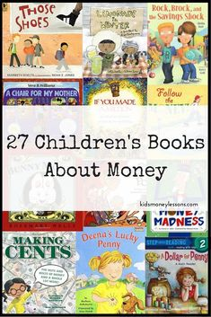 27 Kids Books About Money: A list of our family's favorite kids books about money. Includes PDFs that list the books by money topic and age appropriateness. (Favorite List For Kids) Kids Reading, Teaching Reading, Teaching Kids, Teaching Money, Reading Lists, Reading Nook, Math Books, Kindergarten Books, Homeschool Books