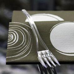 Fourchette plastique design  1,35 les 20