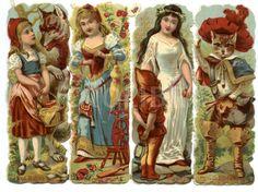 victorian fairytale scraps/bookmarks