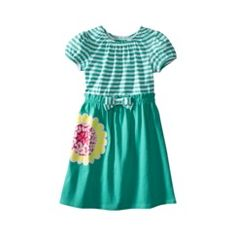 Green stripe and flower dress $9 Target
